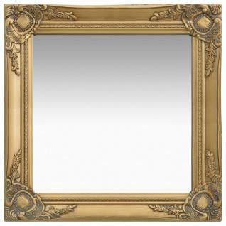 vidaXL Wandspiegel im Barock-Stil 50 x 50 cm Golden