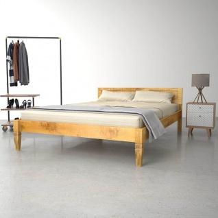 vidaXL Bettgestell Mango Massivholz 180×200 cm