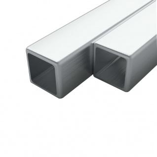 vidaXL Edelstahlrohre 2 Stk. Quadrat Kastenprofil V2A 1m 20x20x1, 9mm