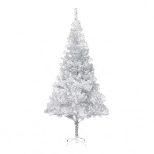 vidaXL Künstlicher Weihnachtsbaum mit Ständer Silbern 180 cm PET