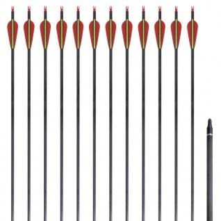 """Standard Recurvebogen-Pfeile 30"""" 0, 76 cm Karbon 12 Stück"""