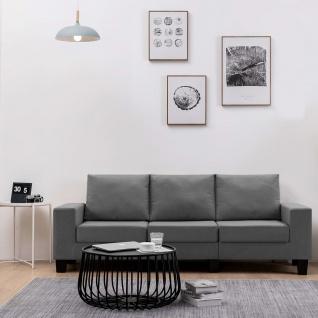 vidaXL 3-Sitzer-Sofa Dunkelgrau Stoff - Vorschau 1