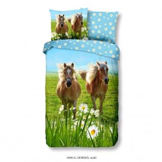 Good Morning Kinder Bettwäsche-Set Horses 140×200/220 cm