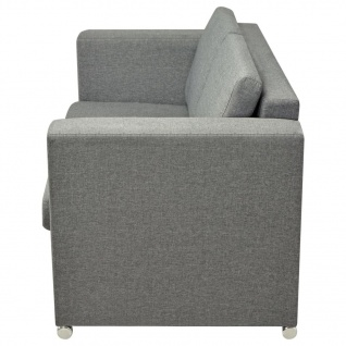 vidaXL 2-Sitzer Sofa Stoff Hellgrau - Vorschau 5