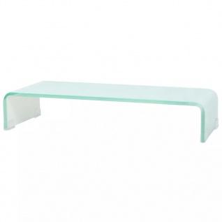 vidaXL TV-Tisch/Bildschirmerhöhung Glas Weiß 60x25x11 cm