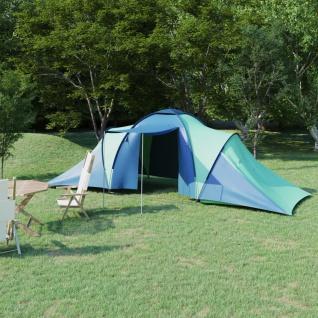 vidaXL Campingzelt 6 Personen Blau und Grün