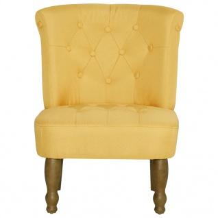 vidaXL Französische Stühle 2 Stk. Gelb Stoff - Vorschau 5