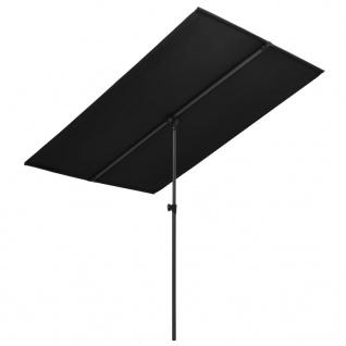 vidaXL Sonnenschirm mit Aluminium-Mast 180 x 130 cm Schwarz