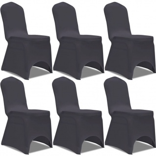 vidaXL Stretch Stuhlbezug 6 Stück Anthrazit