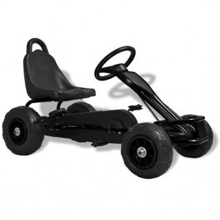 vidaXL Pedal Go-Kart mit Luftreifen Schwarz - Vorschau 1
