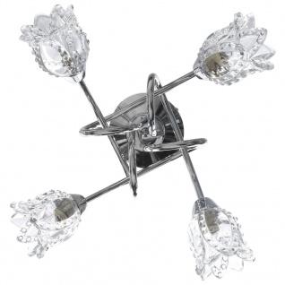 vidaXL Deckenleuchte mit Glas-Lampenschirmen für 4 G9 Leuchtmittel - Vorschau 3