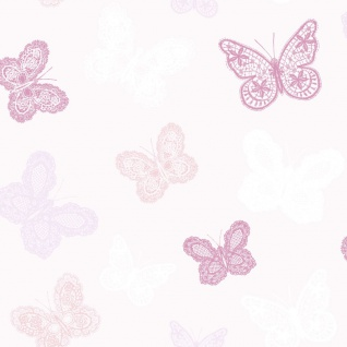 Kids at Home Tapete Butterfly Rosa 100114
