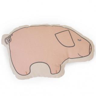 CHILDHOME Zierkissen Canvas Schwein
