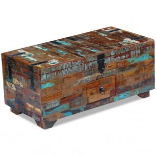 vidaXL Couchtisch Truhe recyceltes Massivholz 80x40x35 cm - Vorschau 2