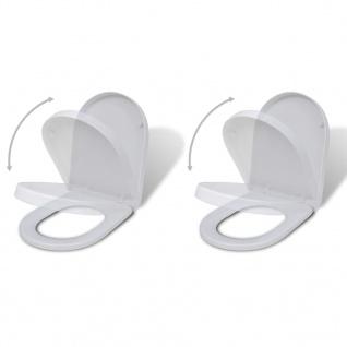vidaXL Toilettensitze mit Absenkautomatik 2 Stk. Kunststoff Weiß