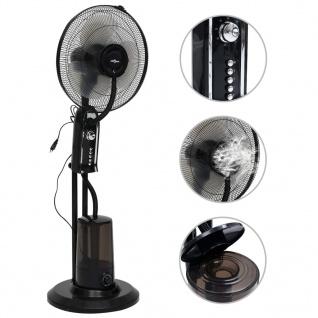 vidaXL Sprühnebel-Standventilator mit 3 Geschwindigkeiten Schwarz