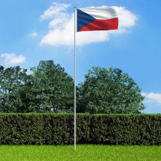 vidaXL Flagge Tschechiens und Mast Aluminium 6 m