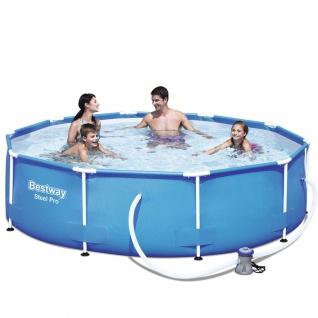 Bestway Pool-Set Sirocco Rund Grau 305cm 56408