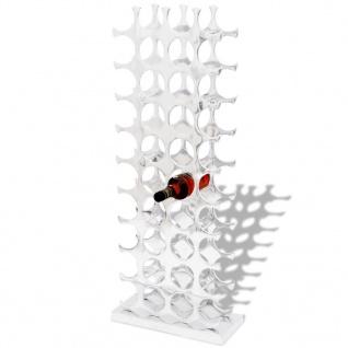 vidaXL Flaschenregal für 40 Flaschen Silbern Aluminium