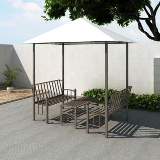 vidaXL Gartenpavillon mit Tisch und Bänken 2, 5 x 1, 5 x 2, 4 m