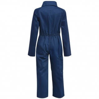 vidaXL Kinder Arbeitsoverall Größe 158/164 Blau - Vorschau 4