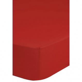 Emotion Spannbettlaken Jersey 140x200 cm Rot 0200.80.44