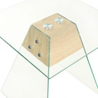 vidaXL Beistelltisch MDF und Glas 45 x 45 x 45 Eichenoptik - Vorschau 3