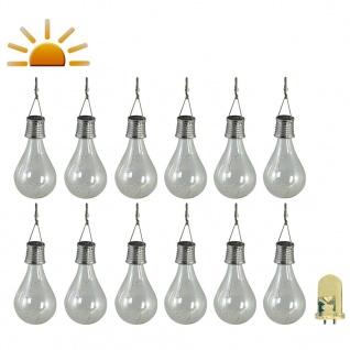 Luxform Solar LED Garten-Partybeleuchtung 12 Stk. Transparent 95220