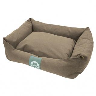 Overseas Hundebett Segeltuch 70x60x20 cm Sand