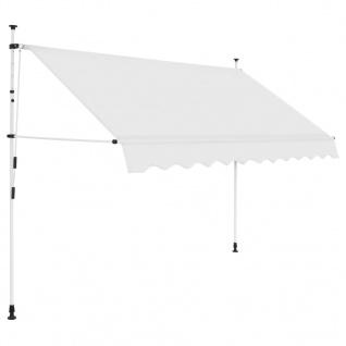 vidaXL Einziehbare Markise Handbetrieben 250 cm Cremeweiß