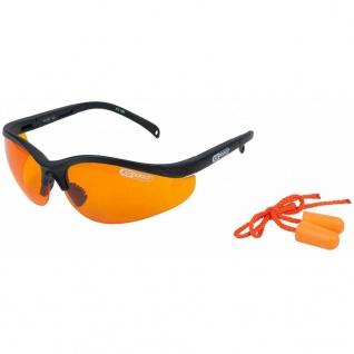 KS Tools Schutzbrille mit Ohrstöpsel Orange 310.0161