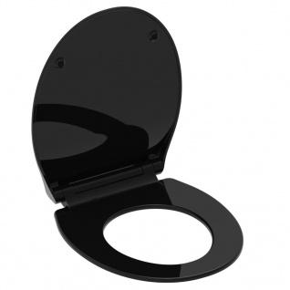 SCHÜTTE Toilettensitz SLIM BLACK Duroplast