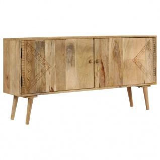 vidaXL Sideboard Massivholz Mango 120 x 30 x 60 cm