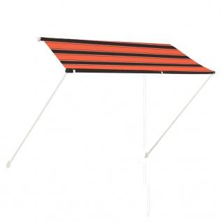vidaXL Einziehbare Markise 250×150 cm Orange und Braun