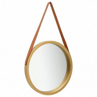 vidaXL Wandspiegel mit Riemen 50 cm Golden