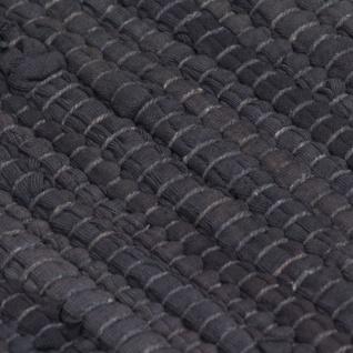 vidaXL Handgewebter Chindi-Teppich Baumwolle 160x230 cm Anthrazit - Vorschau 2
