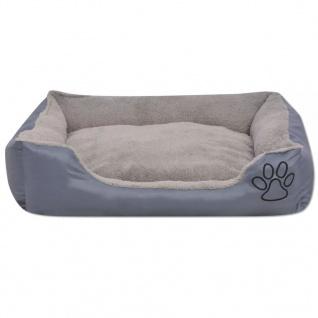 vidaXL Hundebett mit gepolstertem Kissen Größe XXL Grau - Vorschau 3