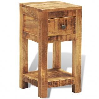vidaXL Nachttisch mit 1 Schublade Mango Massivholz