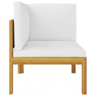 vidaXL 2-Sitzer-Gartenbank mit Kissen Massivholz Akazie - Vorschau 3