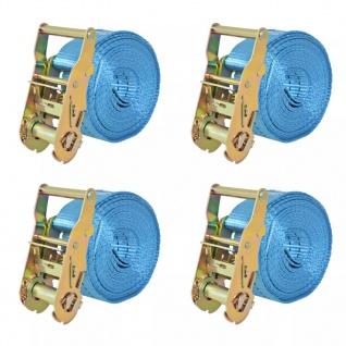 vidaXL Ratschen-Spanngurte 4 Stk. 2 Tonnen 6m×38mm Blau