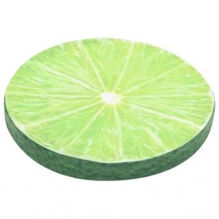 vidaXL Kissen 2 Stk. Fruchtoptik Limette - Vorschau 3