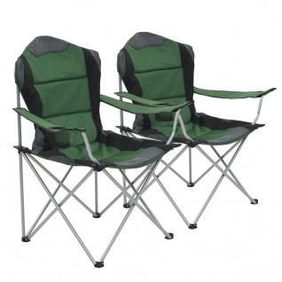 vidaXL Klappbare Campingstühle 2 Stück 96 x 60 x 102 cm Grün