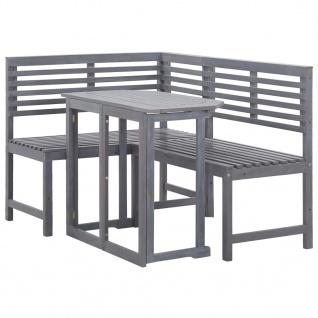vidaXL Balkon-Lounge-Set 2-tlg. Massivholz Akazie