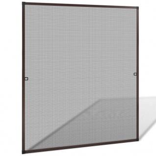 Insektengitter für Fenster 130 x 150 cm braun