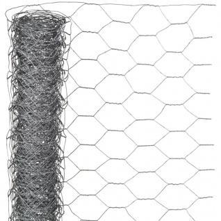 Nature Sechseckgeflecht 0, 5x5 m 25 mm Verzinkter Stahl