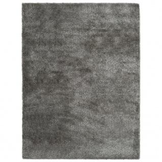 vidaXL Hochflor-Teppich 140 x 200 cm Anthrazit