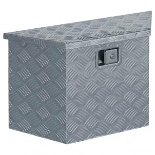 vidaXL Aluminiumkiste 70×24×42 cm Trapezförmig Silbern