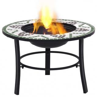 vidaXl Mosaik-Feuerstelle Grün 68 cm Keramik - Vorschau 2
