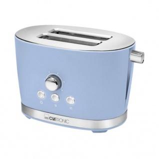 Clatronic 2-Scheiben-Toaster TA 3690 850 W Retro Blau