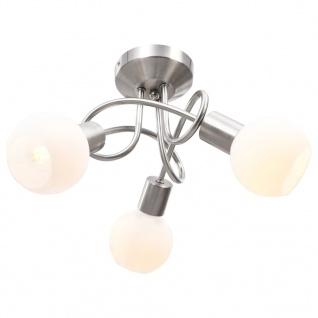 vidaXL Deckenleuchte mit Keramik-Lampenschirmen für 3 E14 Glühlampen